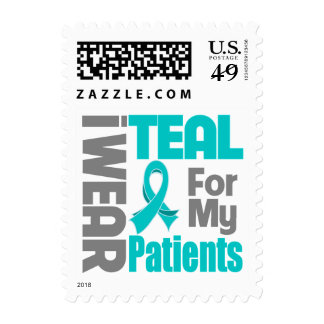 Patients - Teal Ribbon Ovarian Cancer Support Postage Stamps