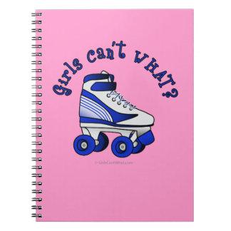 Patín de Derby del rodillo - azul Cuaderno