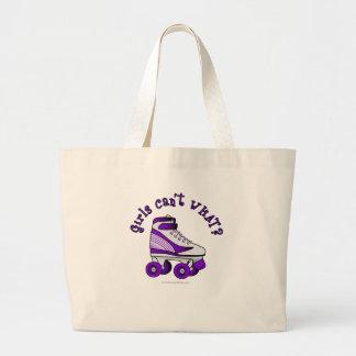 Patín de Derby del rodillo - púrpura Bolsa Tela Grande