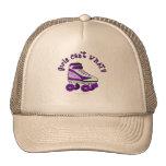 Patín de Derby del rodillo - púrpura Gorro De Camionero