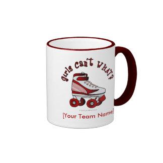 Patín de Derby del rodillo - rojo Taza De Café