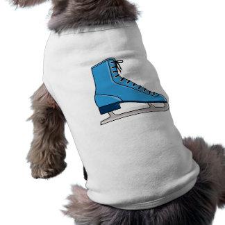 Patín de hielo azul camiseta de mascota