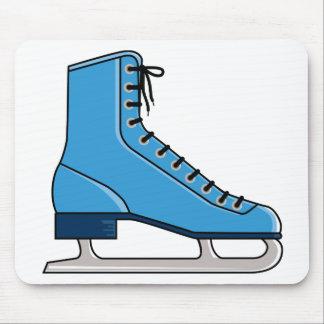 Patín de hielo azul mousepad