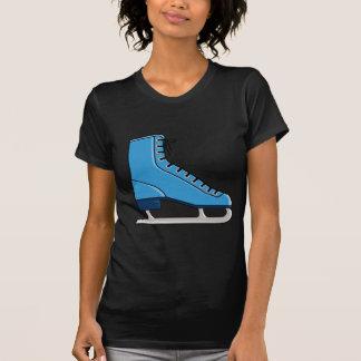 Patín de hielo azul camiseta