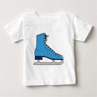 Patín de hielo azul playera para bebé