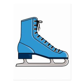 Patín de hielo azul postales