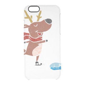 Patín de hielo del reno funda clear para iPhone 6/6S