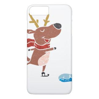 Patín de hielo del reno funda iPhone 7 plus