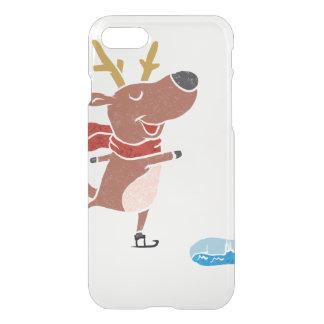 Patín de hielo del reno funda para iPhone 7