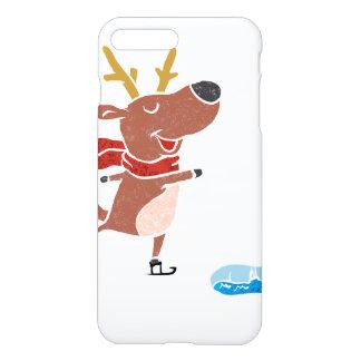 Patín de hielo del reno funda para iPhone 7 plus