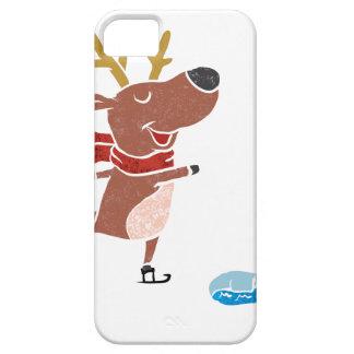 Patín de hielo del reno funda para iPhone SE/5/5s