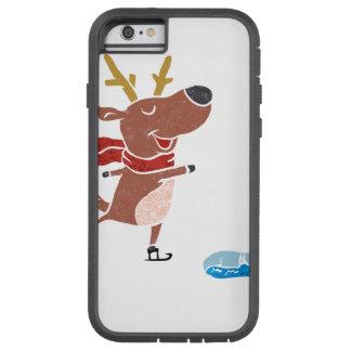 Patín de hielo del reno funda tough xtreme iPhone 6