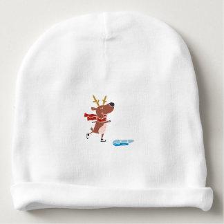 Patín de hielo del reno gorrito para bebe