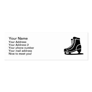 Patín de hielo negro tarjetas de negocios