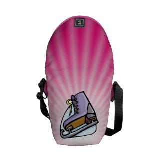 Patín de hielo rosado bolsa de mensajeria