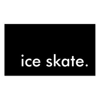 patín de hielo plantillas de tarjetas de visita