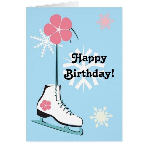 Patín de hielo tarjeta de felicitación