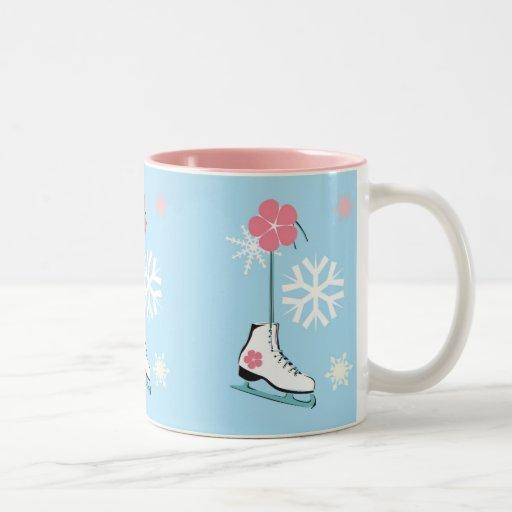 Patín de hielo tazas de café