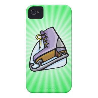 Patín de hielo verde de neón iPhone 4 Case-Mate cárcasas