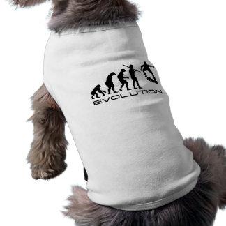 Patín de la evolución playera sin mangas para perro