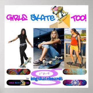 ¡Patín de los chicas también! - Poster del mí soy