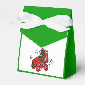 Patín de ruedas del navidad cajas para regalos de boda