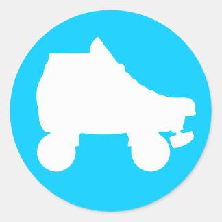 patín de ruedas etiqueta redonda