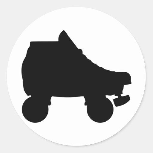 patín de ruedas pegatina redonda
