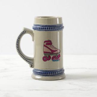 Patín de ruedas - rosa jarra de cerveza