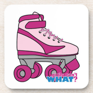 Patín de ruedas - rosa posavasos de bebidas