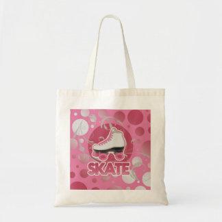 Patín de ruedas rosado del remolino de la burbuja, bolsa tela barata