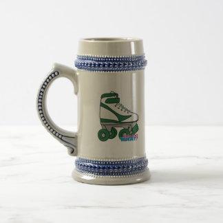 Patín de ruedas - verde jarra de cerveza
