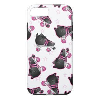 Patín de ruedas y estrella negros y rosados - funda iPhone 7