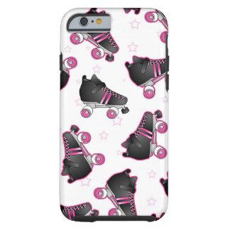 Patín de ruedas y estrella negros y rosados - funda resistente iPhone 6