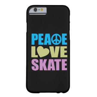 Patín del amor de la paz funda de iPhone 6 barely there