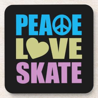 Patín del amor de la paz posavaso