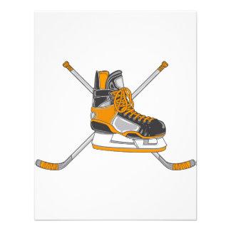 Patín del hockey anuncio