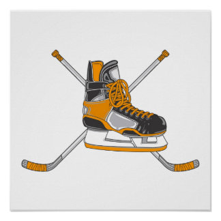 Patín del hockey posters