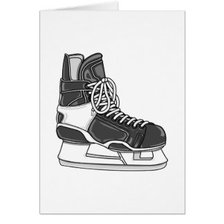 Patín del hockey tarjeta pequeña