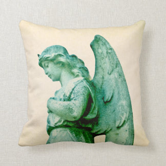 Patina Angel Throw Pillow