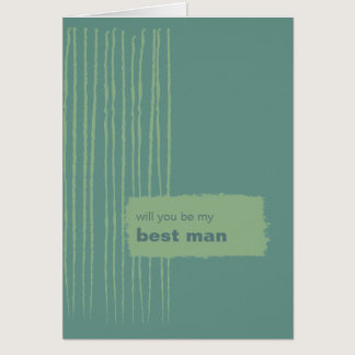 Patina Be My Best Man Card