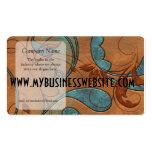 Pátina de cobre y vides grandes plantillas de tarjetas personales