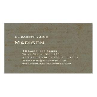 Pátina de papel antigua verde gris elegante tarjetas de visita