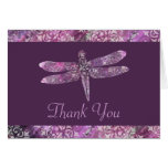 Pátina púrpura: La libélula le agradece Tarjeta