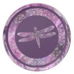 Pátina púrpura: Libélula Platos De Comidas