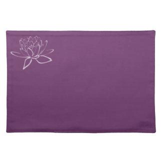 Pátina púrpura: Lotus Manteles Individuales