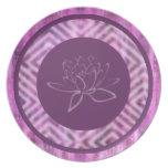 Pátina púrpura: Lotus Plato De Comida