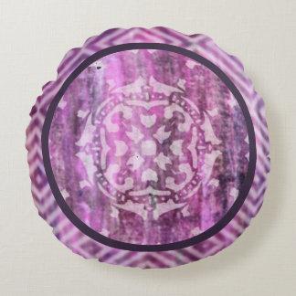 Pátina púrpura: Mandala Cojín Redondo