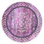 Pátina púrpura: Mandala Plato De Cena
