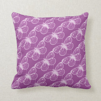 Pátina púrpura: Mariposas y libélulas Almohada